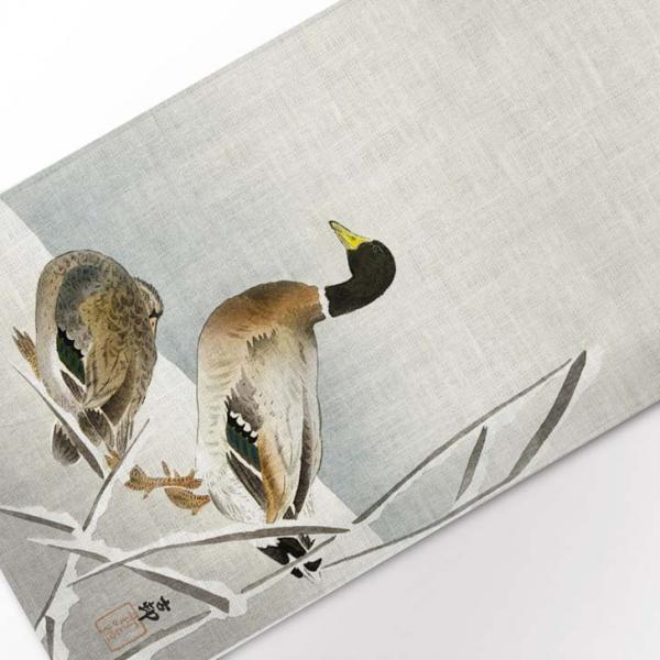 Table runner / Two Ducks on Snowy Reed