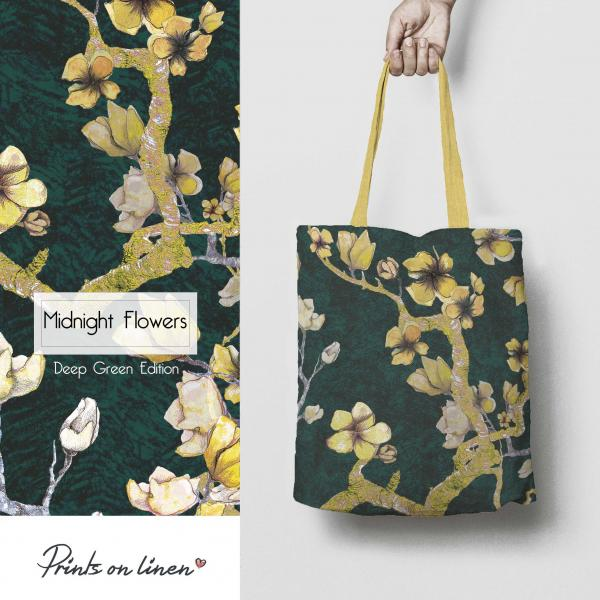 Table bag / Midnight Flowers