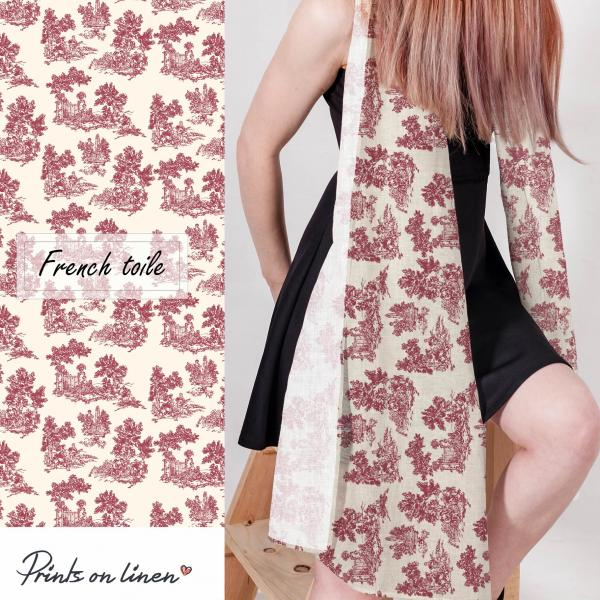 Linen scarf / French Toile