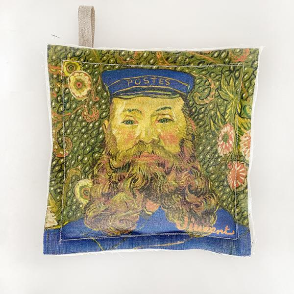 Pot Holder / Postman: The Portraits of Joseph Roulin