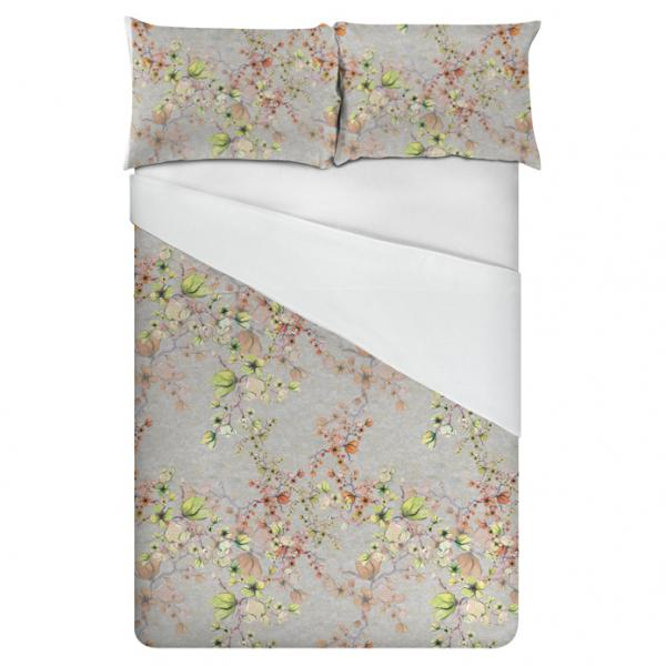 Linen bedding set / Midnight Flowers (Light)