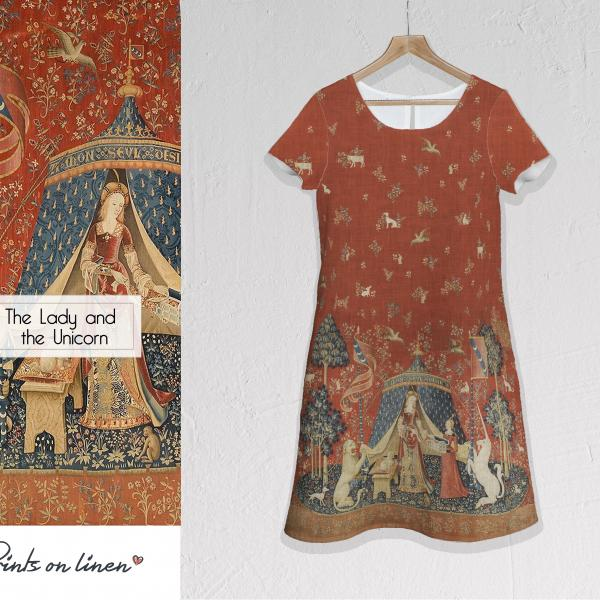 Linen dress / The Lady and the Unicorn