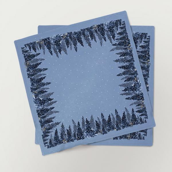 "Napkins ""Winter night"" (6 unit set)"