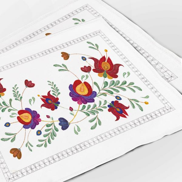 "Placemats ""Embroidery imitation"""