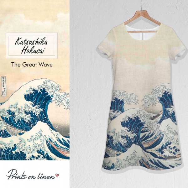Dress / Hokusai The great wave