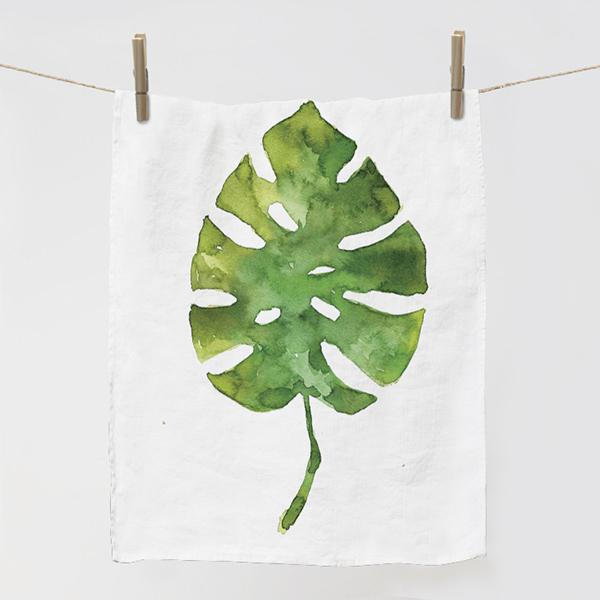 "Kitchen towel ""Hawaii leaf"""