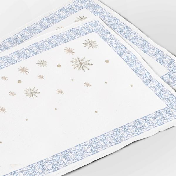 """Placemats """"Snowflakes"""""""