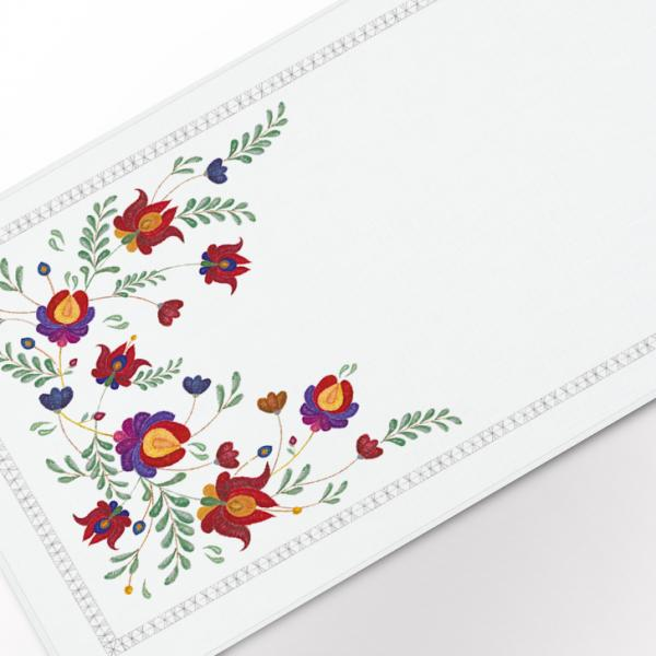 """Table runner """"Embroidery imitation"""""""