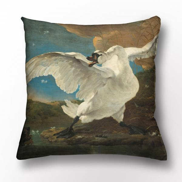 Cushion cover / The Threatened Swan