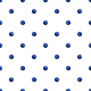 Pattern with watercolor indigo dots
