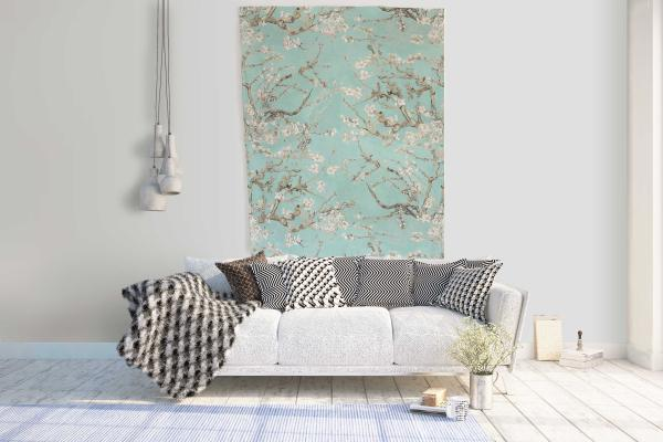 Wall tapestry / Almond Blossom Turquoise