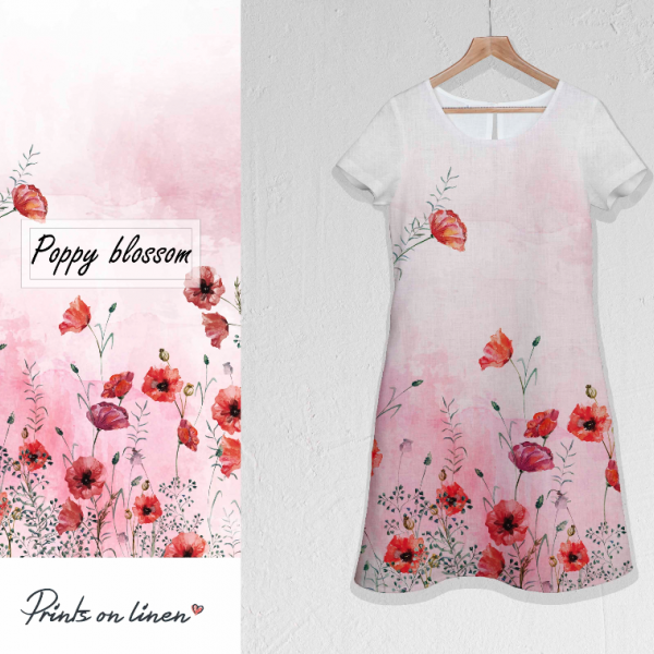 Linen dress / Poppy Blossom