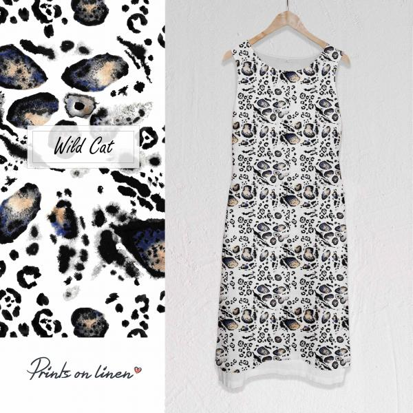 Long linen dress / Wild Cat