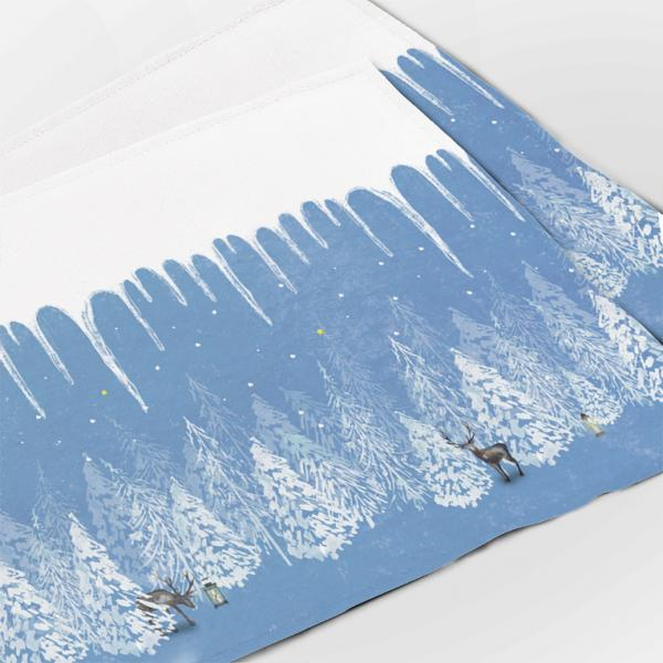 """Placemats """"Winter morning"""" (4units)"""