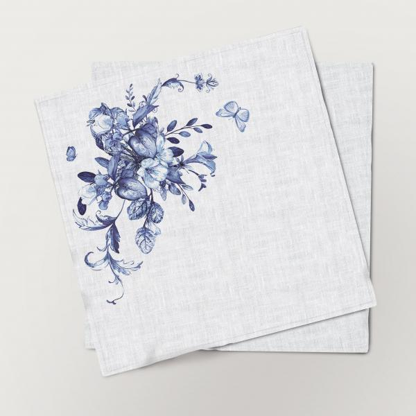 Napkins set /  Porcelain Flowers