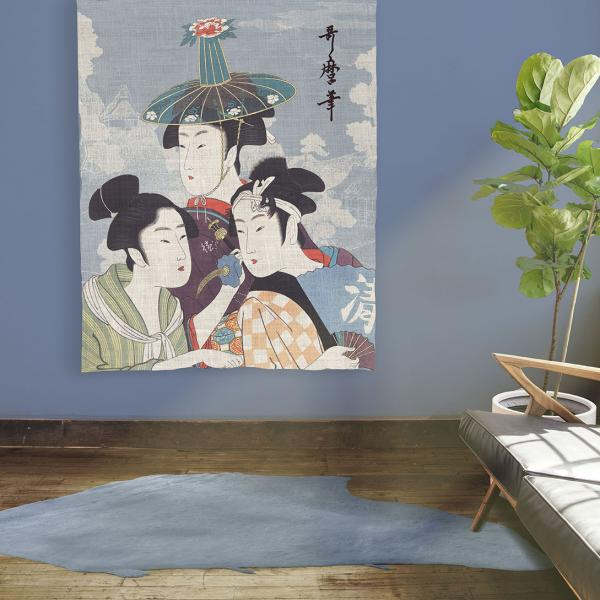 Wall Tapestry / Three Young Men or Women