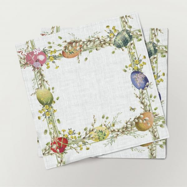 Napkins set /  Easter willow