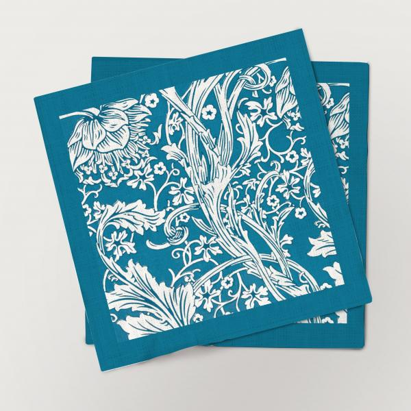Napkins set / Sidewall Arcadia (Blue border)