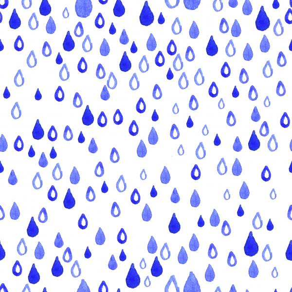 Rain watercolor pattern