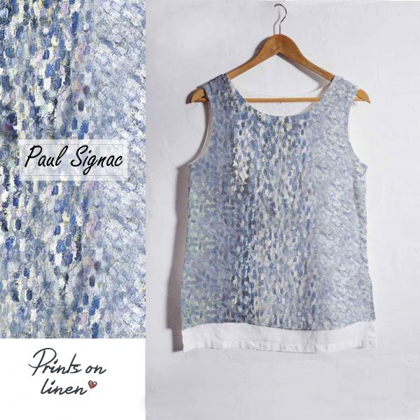 Linen tank top / Paul Signac