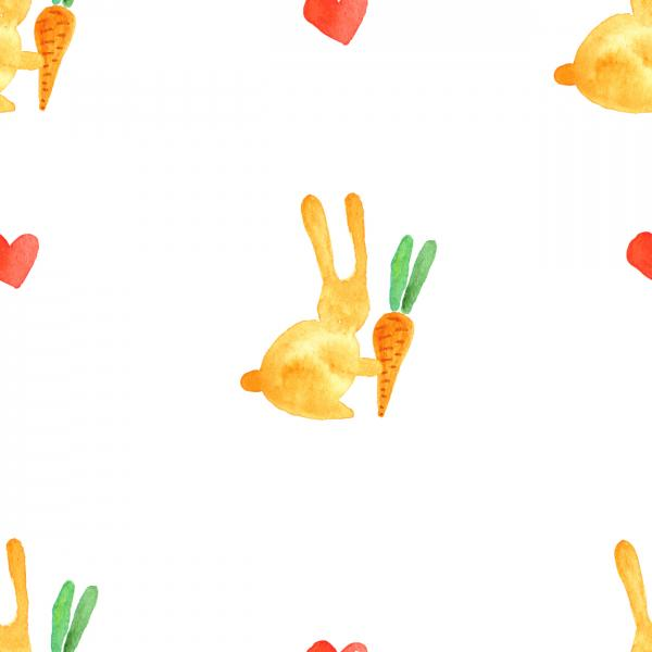 Rabbit with carrot pattern