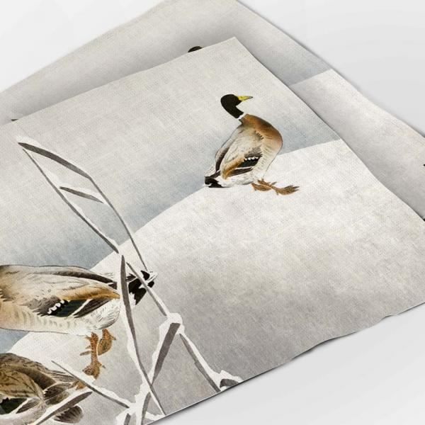 Placemats / Two Ducks on Snowy Reed