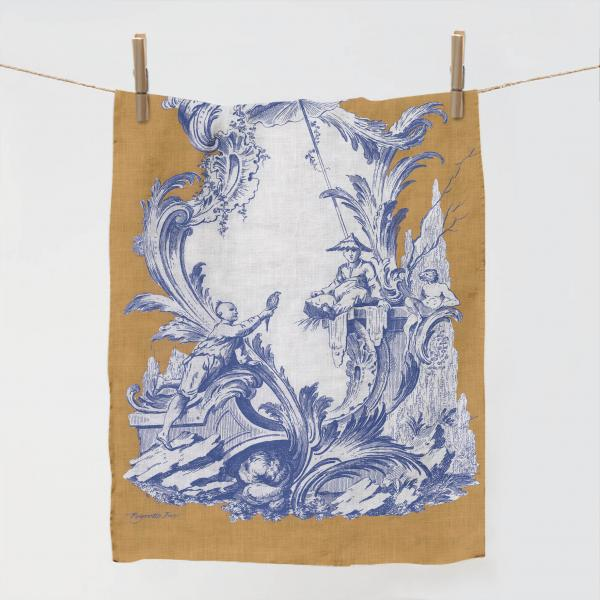 Towel / Ornaments Chinois Blue