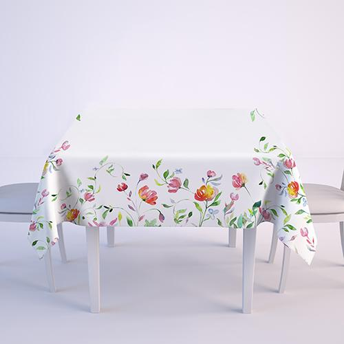 """Tablecloth ,,Colorful flowers"""""""