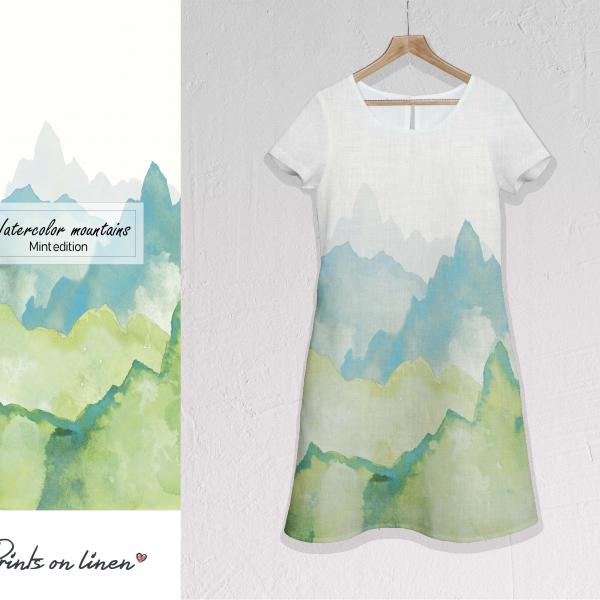 Linen dress / Mountains M007