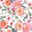 Watercolor foral roses and butterflies