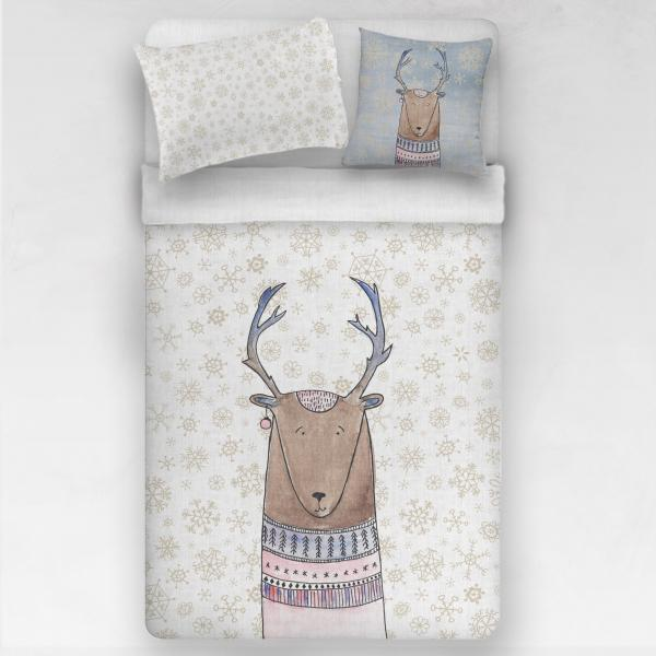 Linen bedding set / Christmas Deer