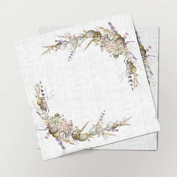 Napkins set / Easter and Lavenders
