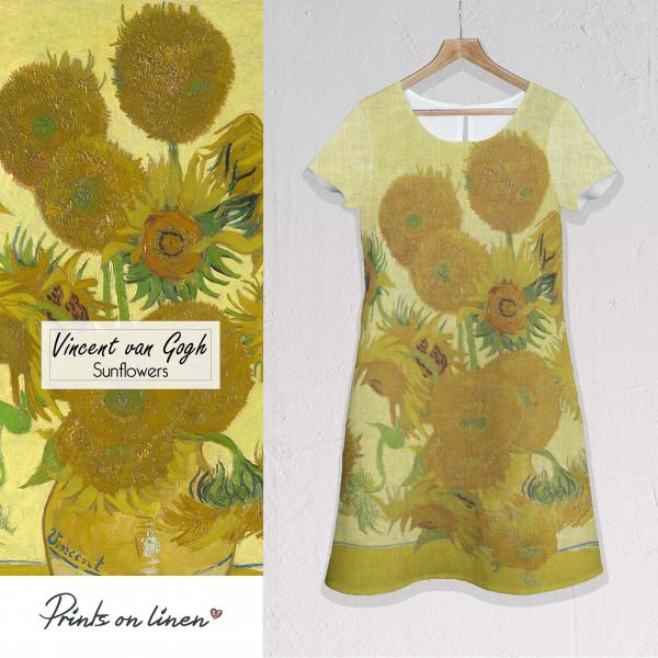 Linen dress  / Sunflowers