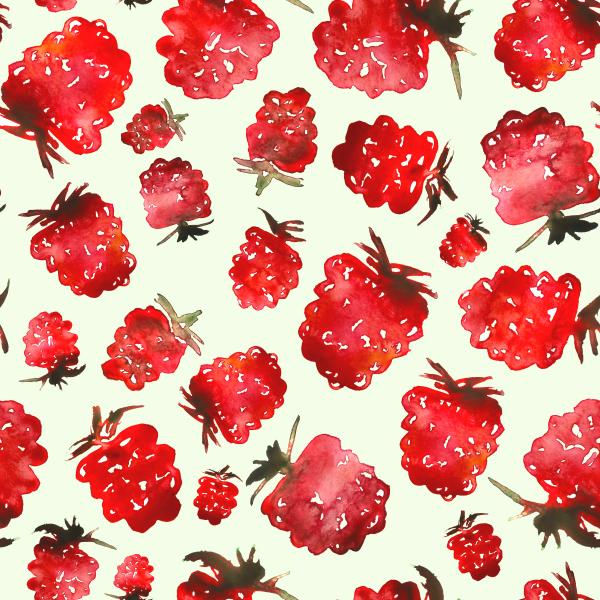 raspberries pattern