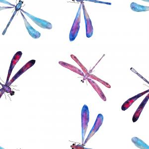 Dragon flies pattern