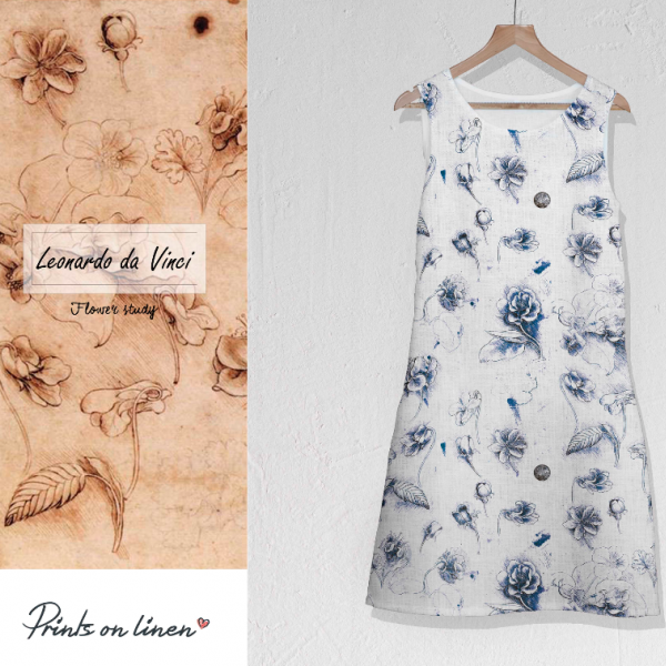 Dress / Leonardo Da Vinci / Flower study