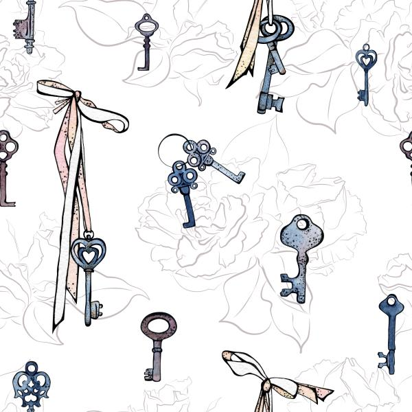 Little keys with roses
