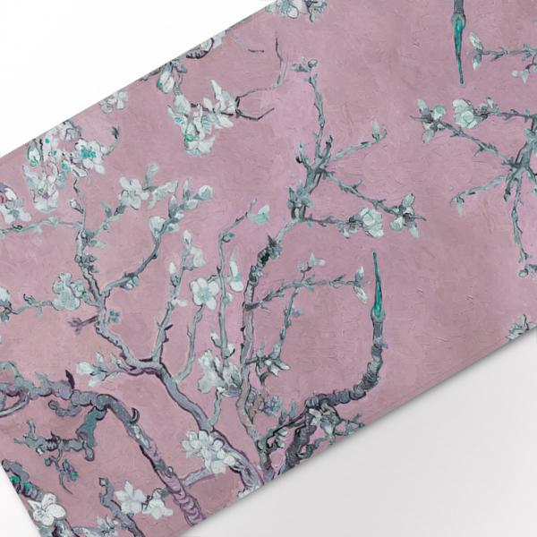 """Table runner """"Almond blossom"""" / Silver pink"""