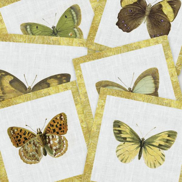 Napkins set /   Spring Butterflies