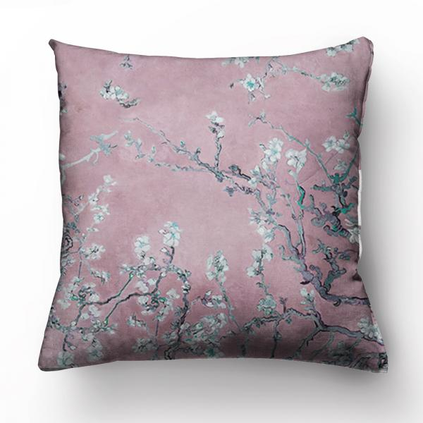 """Cushion cover """"Almond blossom""""/ Silver pink"""