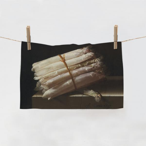 Kitchen Towel / Still Life with Asparagus