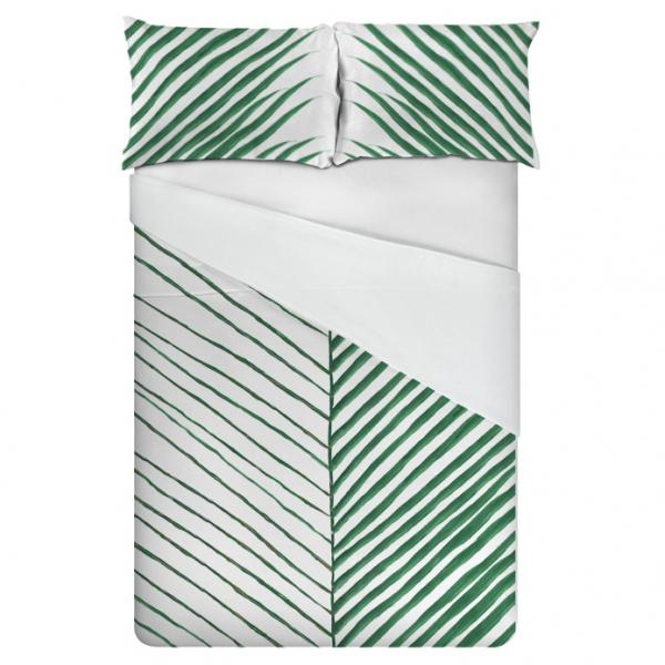 Linen bedding set / Palm Leaf