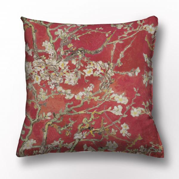 Cushion cover / Almond Blossom / Wine red