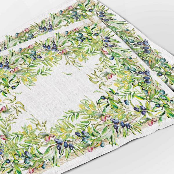 "Placemats set ""Olives tree"""