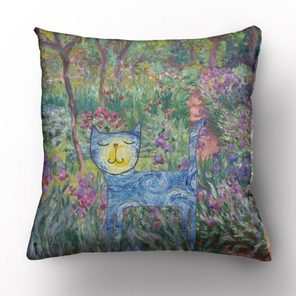 Cushion cover / Van Gogh and cats