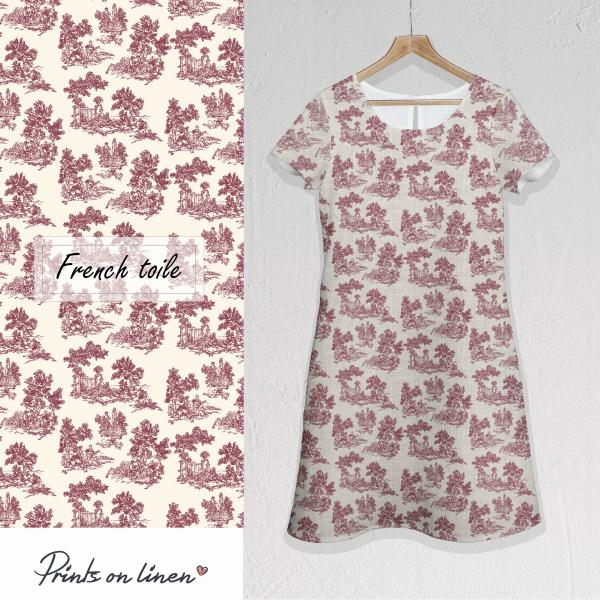 Linen dress / French Toile