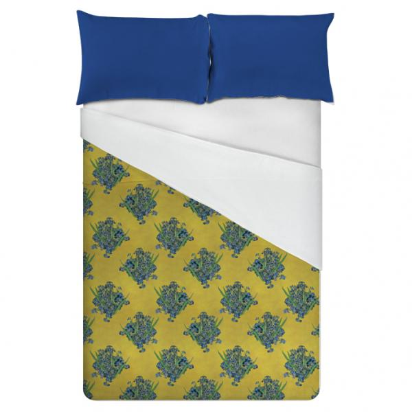 Linen bedding set / Yellow Irises