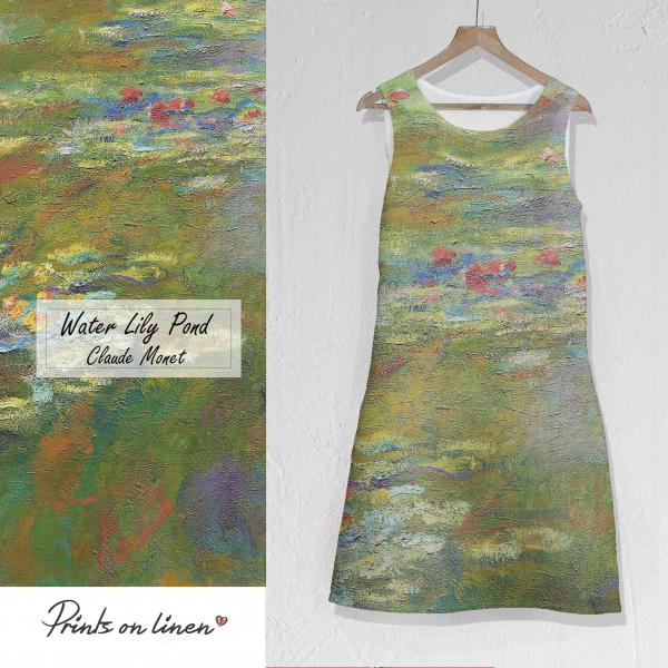 Linen dress / Water Lily Pond 1917 - 1919