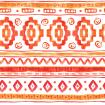 Orange ethnic african watercolor pattern
