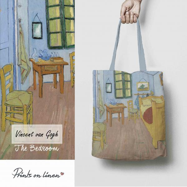 Linen tote bag / The Bedroom